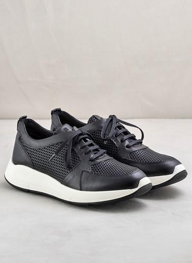 Elle %100 Deri Bağcıklı Ayakkabı Siyah